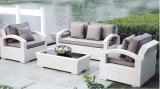 PET Rattan-Sofa-gesetztes im Freiensofa gesetzte PET Rattan-Möbel