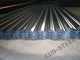 Painel/Galvalume ondulados da telhadura do alumínio de 55% para folhas do telhado do metal