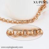 74499 Form-einfache Messingschmucksache-Kettenarmband im Rosen-Gold überzogen