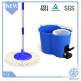 Commerce de gros 360 Degré Magic microfibre bleu Mop