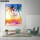 Het Af:drukken van de Kunst van kokospalmen op Canvas
