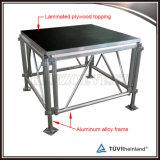 Venda por grosso de madeira em alumínio fase portátil exterior da plataforma