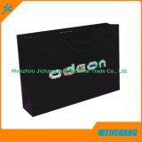 Papel hecho a mano de lujo Estampado Negro caliente Bolsas con logotipo personalizado