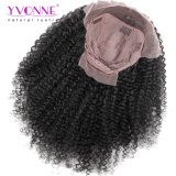 Pelucas rizadas malasias del pelo humano del frente del cordón de la densidad de Yvonne el 180% para el color natural del pelo brasileño de la Virgen de las mujeres negras