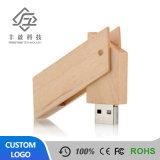 공장 직접 창조적인 자전 나무로 되는 U 디스크 16g USB 섬광 드라이브는 베껴진 정보에 의하여 주문을 받아서 만들어진 법인 연례 회의 선물일 수 있다