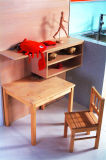 現代光沢のある木製の食器棚の家具