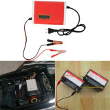 12V 6A Lader van de Batterij van de Motorfiets Lead-Acid met LEIDENE Dlisplay