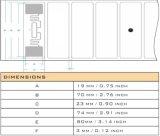 Markering van de Spaander RFID van het Windscherm van het Voertuig van het Parkeren vreemd-H3 ISO18000-6c van de auto de UHF