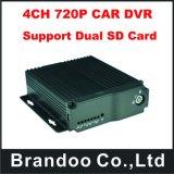 карточка Vehcile DVR 4CH 2 SD, двойной корабль передвижное DVR карточки SD