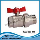 Válvula de bola de latón con la unión del tubo (V18-008)