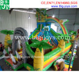 Outdoor Inflatable Bouncer Slide with Climbing Wall, gigante Inflável Trampoline