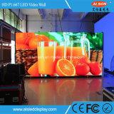 HD P1.667 kleines Abstand-Innenabendessen dünnes farbenreiches LED-Bildschirmanzeige-Zeichen für das Bekanntmachen