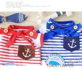 Rayures personnalisé Sailor Pet Shirt Chien de conception de vêtements