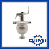 Aço inoxidável sanitárias assentar a válvula de desvio de Braçadeira/Solda/Manual/Penumatic Rosca