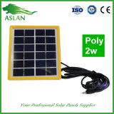 Малая панель солнечных батарей 2W 6V для фонарика и света