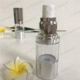 15ml Lotion-Flasche des Kunststoffgehäuse-Siliver mit luftloser Pumpe (PPC-ASAB-038)
