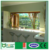 Het Dubbele Glas die van het aluminium Venster met Australische StandaardAs2047 (PNOCBFW00145) vouwen