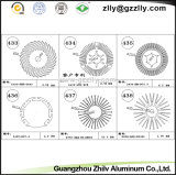 Z-vormen De Zonnebloem Heatsinks van het Aluminium van het Bouwmateriaal