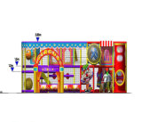 Campo de jogos interno dos miúdos temáticos do circo do divertimento do elogio para a venda