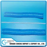 Wegwerfvliesstoff scheuern Schutzkappen-flache elastische Zeichenkette mit doppelten Gewinden