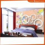 多彩な花および円デザイン3Dはホーム装飾のための油絵を防水する
