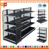 Stahl-rückseitiges Maschendraht-Netz-Bildschirmanzeige-Fach-Supermarkt-Regal (Zhs41)