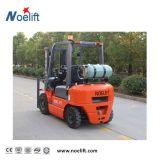 De vierwielige 2.5t Vorkheftruck van de Benzine Met de ZijMast van de Draaier en van de Container voor de Lading van de Container