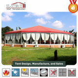 Parte octogonal tenda decoração com parede de vidro (BT/OCT15/400) e teto transparente