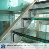 Claro de alta calidad de la escalera de vidrio laminado templado pasos