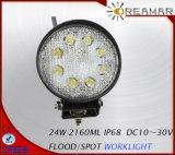 2160LM 24W PI68 Luz LED de trabajo para el SUV 4X4 Offroad carretilla