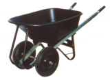 Brouette de roue en plastique de plateau de deux roues (WB7800W)