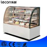 Глубоко - холодильник индикации Furved замораживателя стеклянный