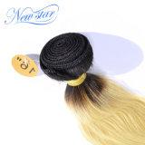 Выдвижения блондинкы человеческих волос верхнего качества йБ 613 прямые Remy
