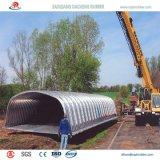 Tubulação galvanizada ondulada Nestable para a sargeta da via navegável a México