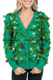 Sweater van Kerstmis van de Opzichtige Cardigan van de Slinger van vrouwen de Lelijke