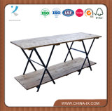 Wooden Table Topの2段になったRetail Display Table