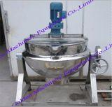 Chaleira de cozimento Jacketed do agitador do aquecimento de vapor do aço inoxidável (50-1000L)