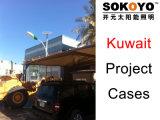 Cas solaires de projet du Lumière-Kowéit de Lumière-Maïs de rue