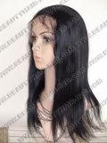 Brasilianische Jungfrau-gerades Haar Wefted Spitze-Frontseiten-Perücken