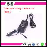 De Adapter van de Goede Kwaliteit 12V 2A van Ce 24W, 12V 24W Adapter, 24W LEIDENE Adapter
