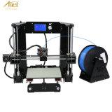 Minidrucker 3D mit erhitzter Bau-Platte, schließt Mikro-Ableiter-Karte und Beispiel-Winkel- des Leistungshebelsheizfaden ein