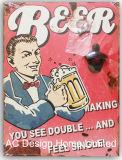 Старинная Vintage пиво пользовательский дизайн формы металлических и деревянных табличка бумаги бутылок