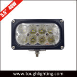 """EMC는 5.5 """" 40W 직사각형 플러드 광속 크리 사람 LED 일 램프를 승인했다"""