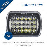 7.0 pulgadas Epistar Offroad H4 de las luces de vehículo de transporte LED 72W