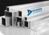 Aluminiumstrangpresßling-Profil-rundes quadratisches Gefäß angepasst
