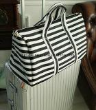 Saco grande portátil da mala de viagem do curso da capacidade do projeto dos jovens, bagagem prática de nylon durável/saco do trole com a correia ajustável do ombro