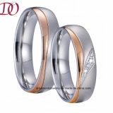 IPローズの金は人および女性のための宝石類のリングの罰金の結婚指輪の約束のリングをめっきした