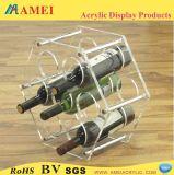 7本のびんのアクリルのワインの棚(AM-K21)