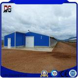 La granja de acero prefabricada de la estructura de acero de los edificios vertió para la casa de pollo