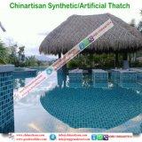 Chaume synthétique de paume normale de regard pour la barre de Tiki/parapluie de plage couvert de chaume synthétique de pavillon de l'eau de maison hutte de Tiki 16